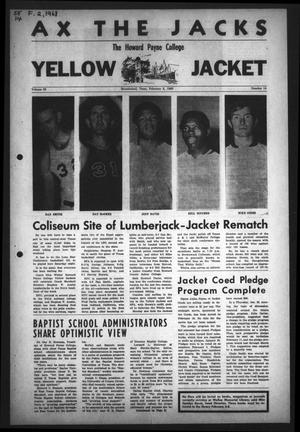 Primary view of object titled 'The Howard Payne College Yellow Jacket (Brownwood, Tex.), Vol. 55, No. 14, Ed. 1  Friday, February 2, 1968'.