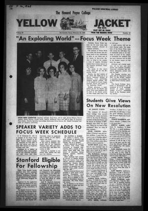 Primary view of object titled 'The Howard Payne College Yellow Jacket (Brownwood, Tex.), Vol. 55, No. 16, Ed. 1  Friday, February 16, 1968'.
