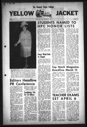 Primary view of object titled 'The Howard Payne College Yellow Jacket (Brownwood, Tex.), Vol. 55, No. 17, Ed. 1  Friday, February 23, 1968'.