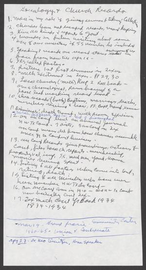 [Genealogy & Church Records]