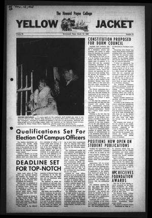 The Howard Payne College Yellow Jacket (Brownwood, Tex.), Vol. 55, No. 19, Ed. 1  Friday, March 15, 1968