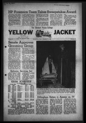 Primary view of object titled 'The Howard Payne College Yellow Jacket (Brownwood, Tex.), Vol. 57, No. 14, Ed. 1  Friday, December 12, 1969'.