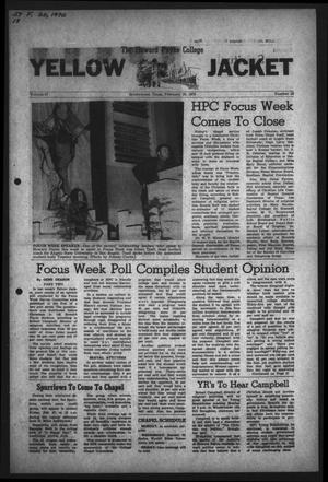 Primary view of object titled 'The Howard Payne College Yellow Jacket (Brownwood, Tex.), Vol. 57, No. 18, Ed. 1  Friday, February 20, 1970'.