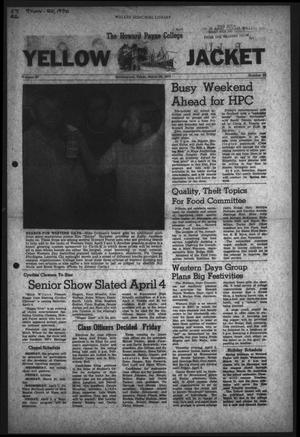 The Howard Payne College Yellow Jacket (Brownwood, Tex.), Vol. 57, No. 22, Ed. 1  Friday, March 20, 1970