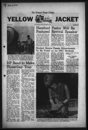 The Howard Payne College Yellow Jacket (Brownwood, Tex.), Vol. 58, No. 5, Ed. 1  Friday, October 2, 1970