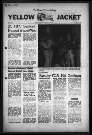 The Howard Payne College Yellow Jacket (Brownwood, Tex.), Vol. 58, No. 7, Ed. 1  Friday, October 16, 1970