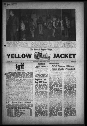 Primary view of object titled 'The Howard Payne College Yellow Jacket (Brownwood, Tex.), Vol. 58, No. 16, Ed. 1  Friday, January 29, 1971'.