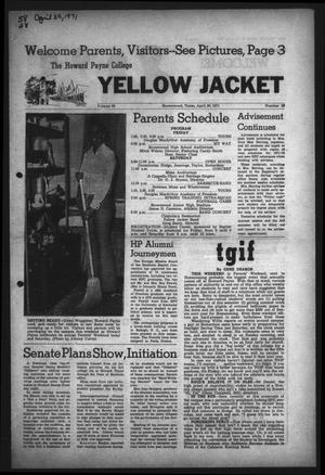Primary view of object titled 'The Howard Payne College Yellow Jacket (Brownwood, Tex.), Vol. 58, No. 28, Ed. 1  Friday, April 30, 1971'.