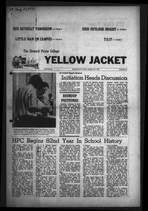 The Howard Payne College Yellow Jacket (Brownwood, Tex.), Vol. 59, No. 1, Ed. 1  Friday, August 27, 1971