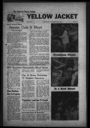 The Howard Payne College Yellow Jacket (Brownwood, Tex.), Vol. 59, No. 5, Ed. 1  Friday, September 24, 1971