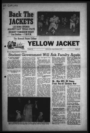 The Howard Payne College Yellow Jacket (Brownwood, Tex.), Vol. 59, No. 6, Ed. 1  Friday, October 1, 1971