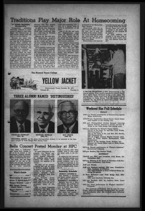 Primary view of object titled 'The Howard Payne College Yellow Jacket (Brownwood, Tex.), Vol. 59, No. 9, Ed. 1  Friday, October 22, 1971'.