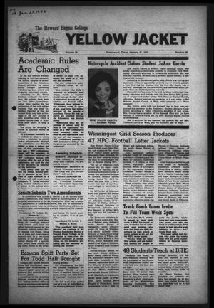 The Howard Payne College Yellow Jacket (Brownwood, Tex.), Vol. 59, No. 16, Ed. 1  Friday, January 21, 1972