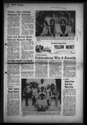 The Howard Payne College Yellow Jacket (Brownwood, Tex.), Vol. 59, No. 27, Ed. 1  Friday, April 14, 1972