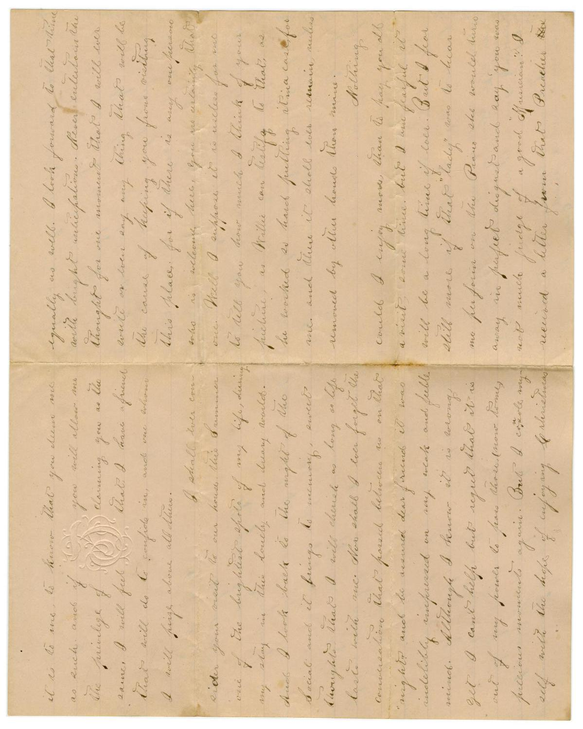 [Letter from Emma Davis to John C. Brewer, August 27, 1878]                                                                                                      [Sequence #]: 2 of 3