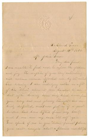 [Letter from Emma Davis to John C. Brewer, August 27, 1878]