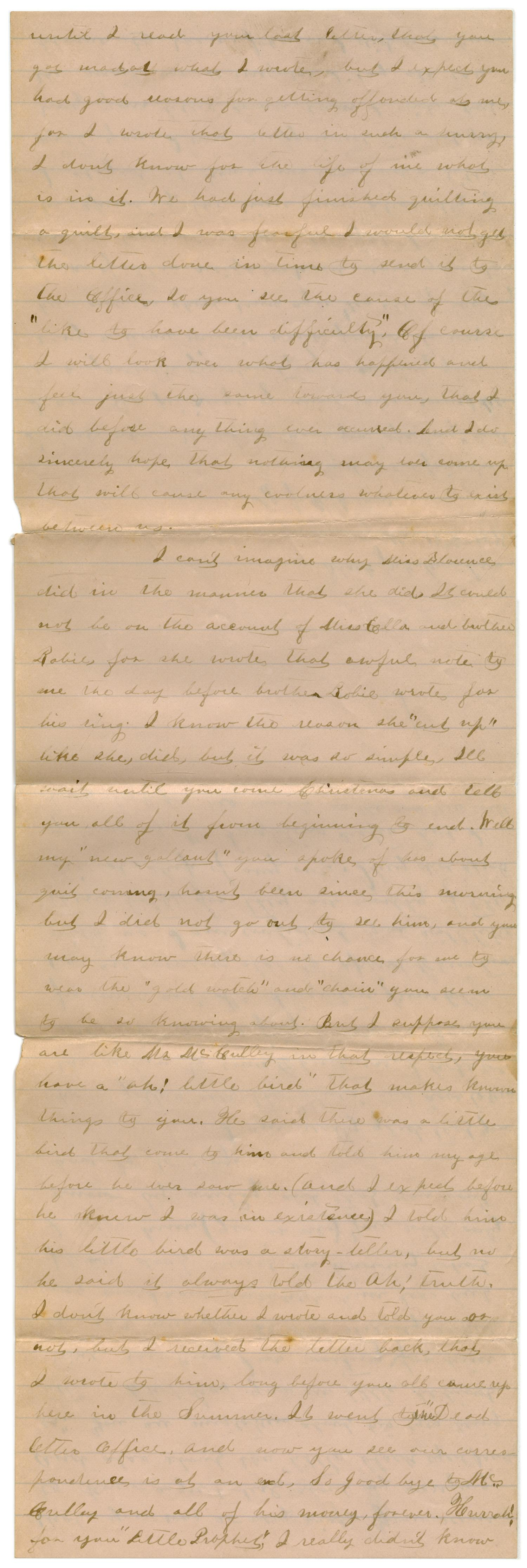 [Letter from Emma Davis to John C. Brewer, November 17, 1878]                                                                                                      [Sequence #]: 2 of 4