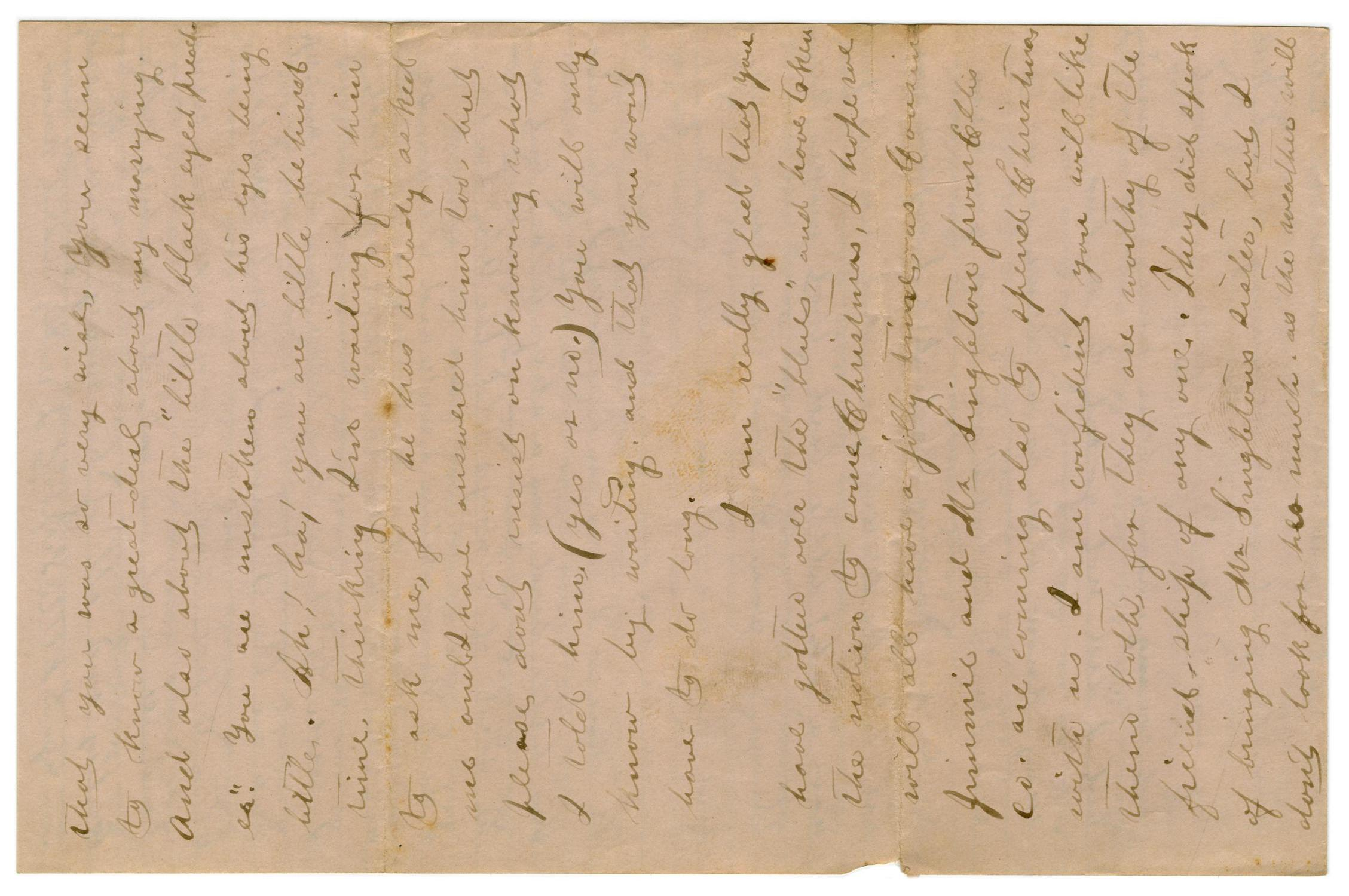 [Letter from Emma Davis to John C. Brewer, November 17, 1878]                                                                                                      [Sequence #]: 3 of 4