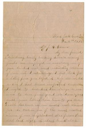 Primary view of object titled '[Letter from Emma Davis to John C. Brewer, December 8, 1878]'.