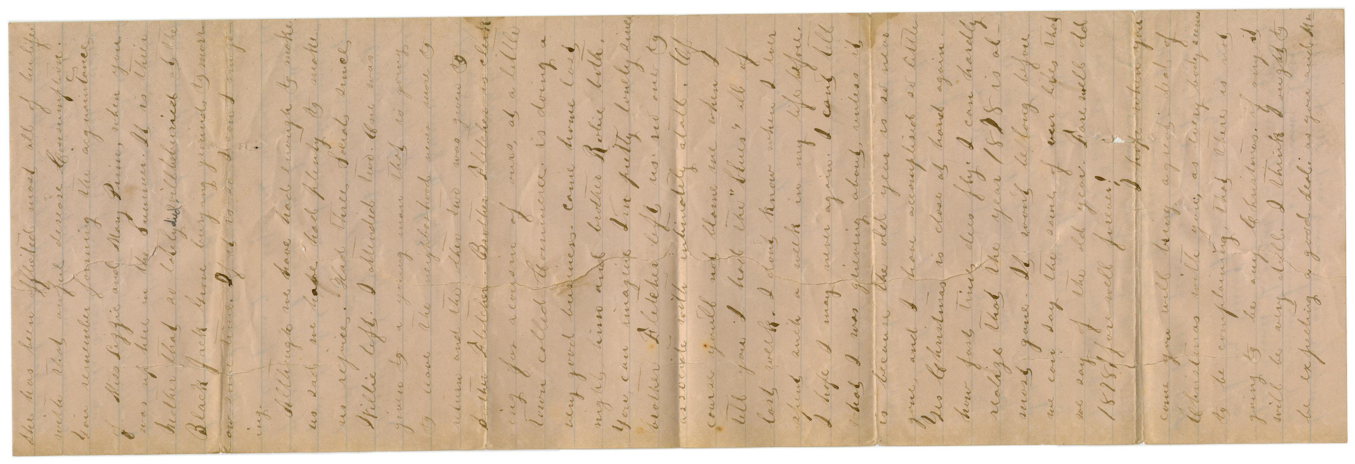 [Letter from Emma Davis to John C. Brewer, December 8, 1878]                                                                                                      [Sequence #]: 2 of 3
