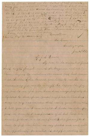 Primary view of object titled '[Letter from Emma Davis to John C. Brewer, January 26, 1879]'.