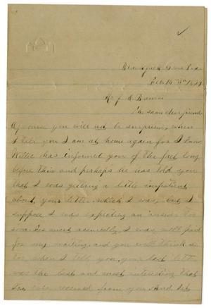 [Letter from Emma Davis to John C. Brewer, February 14, 1879]