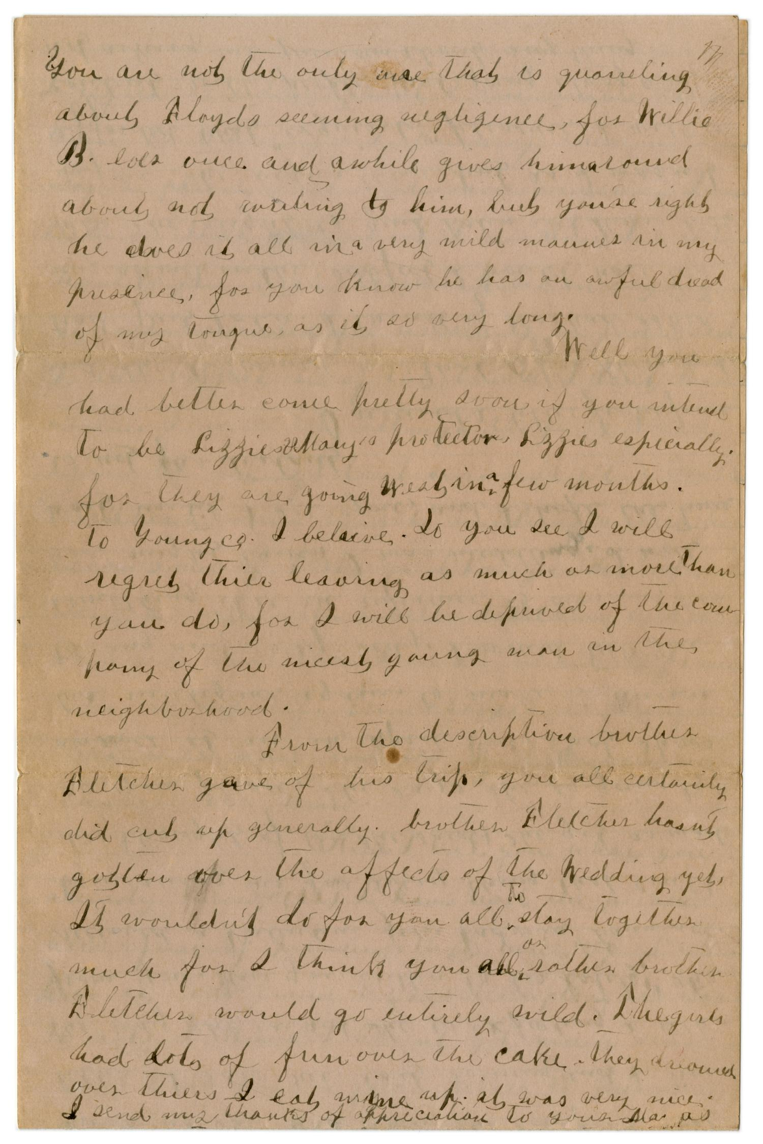 [Letter from Emma Davis to John C. Brewer, March 2, 1879]                                                                                                      [Sequence #]: 3 of 6