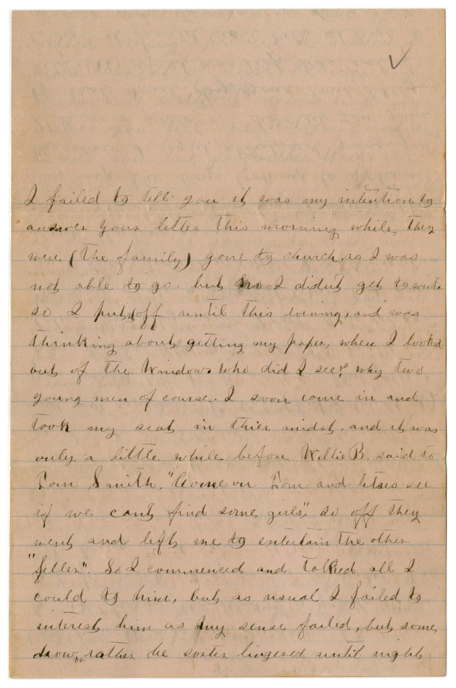 [Letter from Emma Davis to John C. Brewer, March 2, 1879]                                                                                                      [Sequence #]: 4 of 6