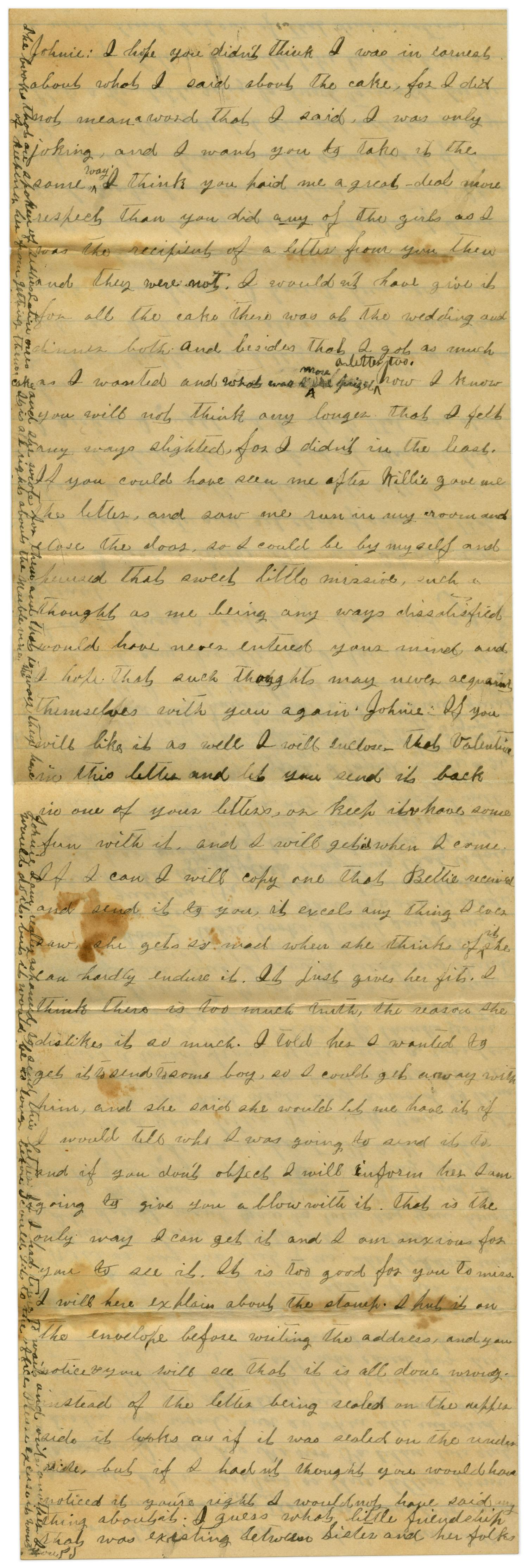 [Letter from Emma Davis to John C. Brewer, March 16, 1879]                                                                                                      [Sequence #]: 5 of 6