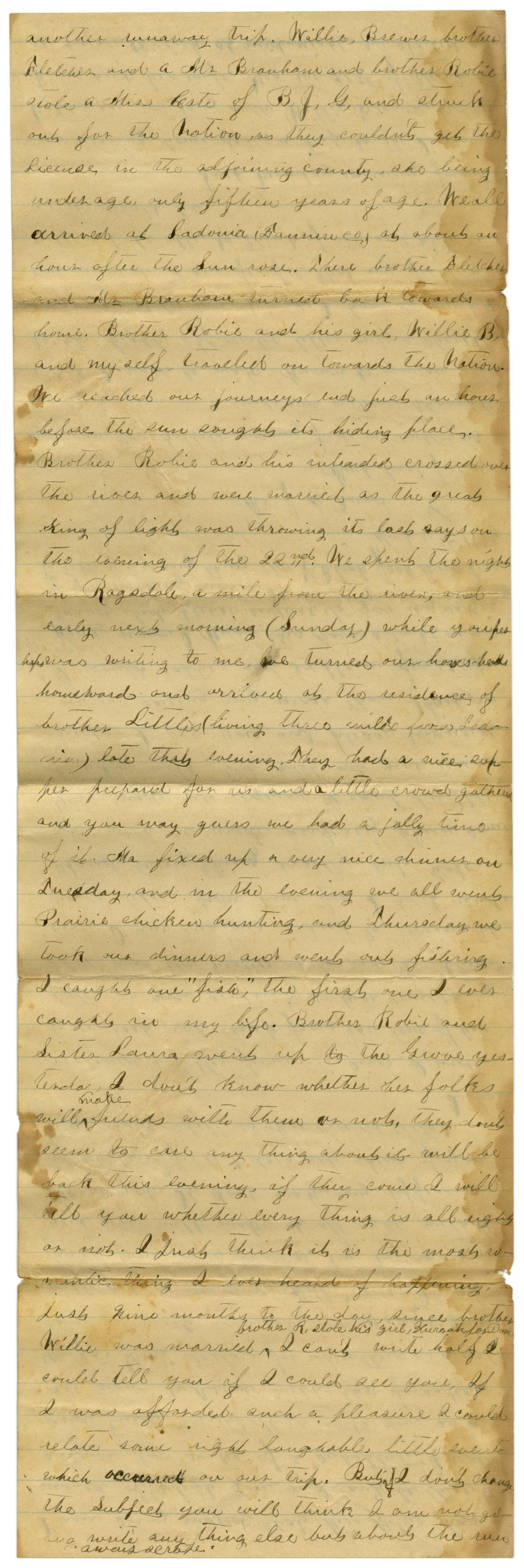 [Letter from Emma Davis to John C. Brewer, March 30, 1879]                                                                                                      [Sequence #]: 2 of 6
