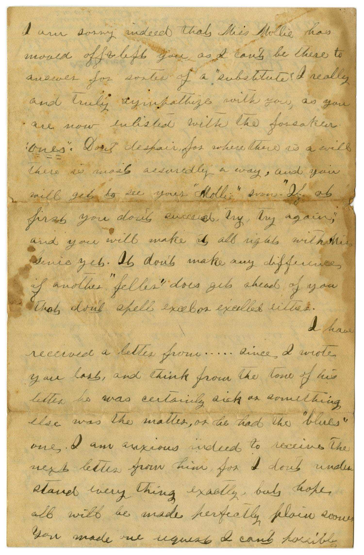 [Letter from Emma Davis to John C. Brewer, March 30, 1879]                                                                                                      [Sequence #]: 3 of 6