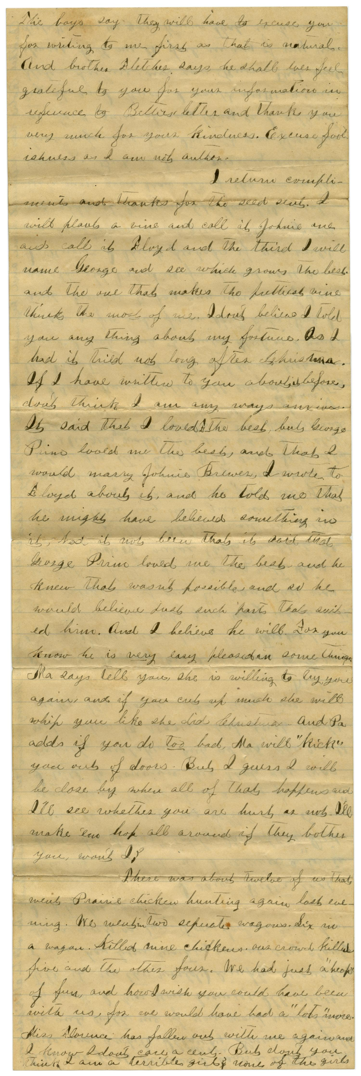 [Letter from Emma Davis to John C. Brewer, March 30, 1879]                                                                                                      [Sequence #]: 5 of 6