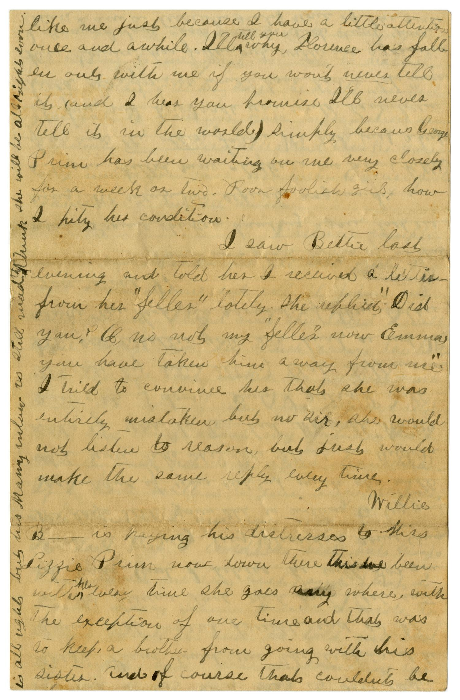 [Letter from Emma Davis to John C. Brewer, March 30, 1879]                                                                                                      [Sequence #]: 6 of 6