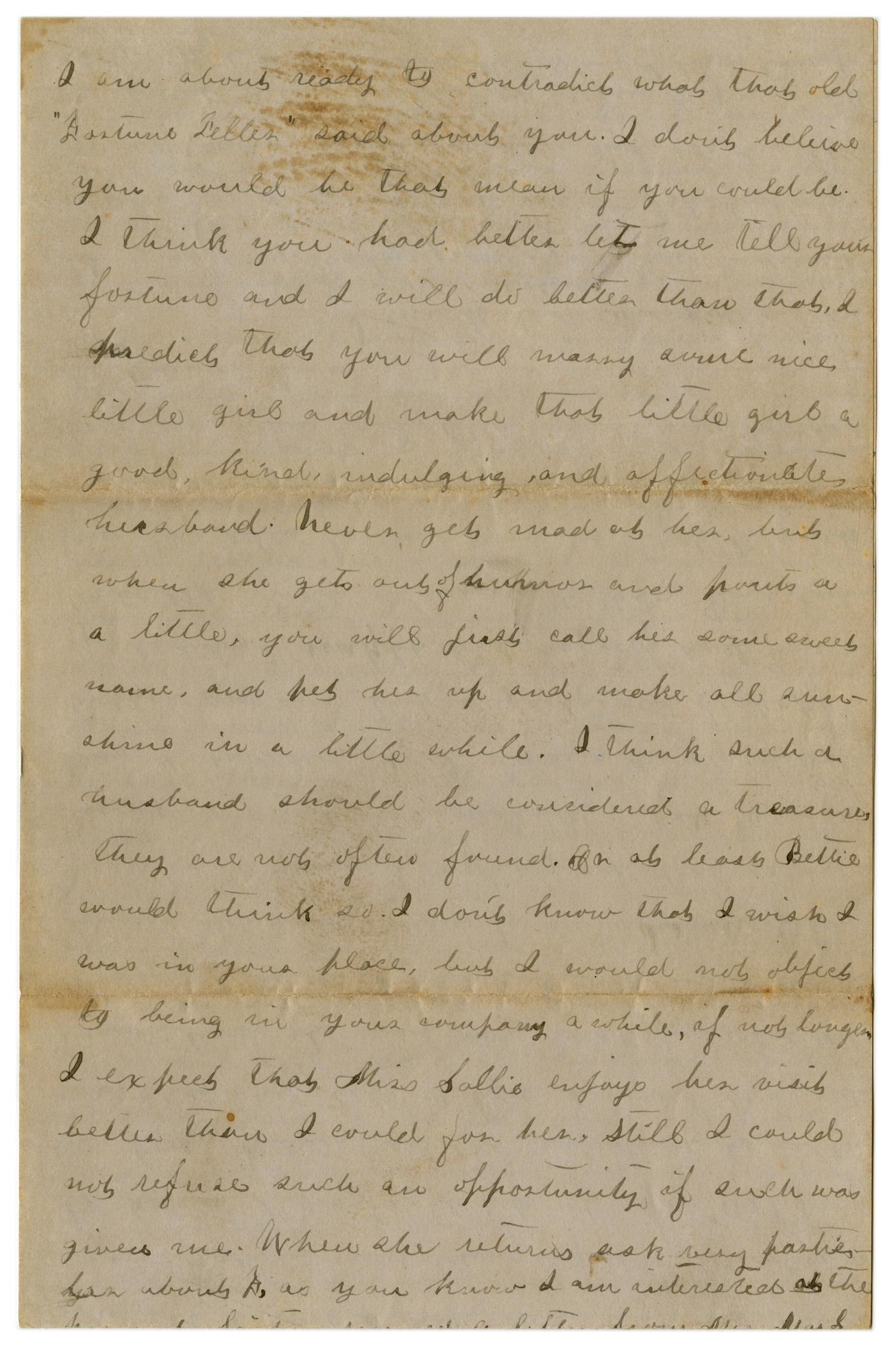 [Letter from Emma Davis to John C. Brewer, May 8, 1879]                                                                                                      [Sequence #]: 6 of 6