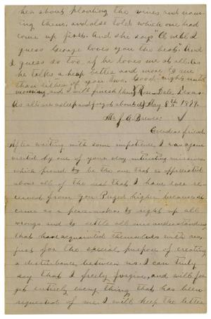 [Letter from Emma Davis to John C. Brewer, May 8, 1879]