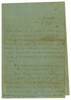 [Letter from Emma Davis to John C. Brewer, May 11, 1879]