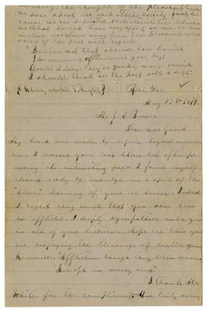 Primary view of object titled '[Letter from Emma Davis to John C. Brewer, May 27, 1879]'.