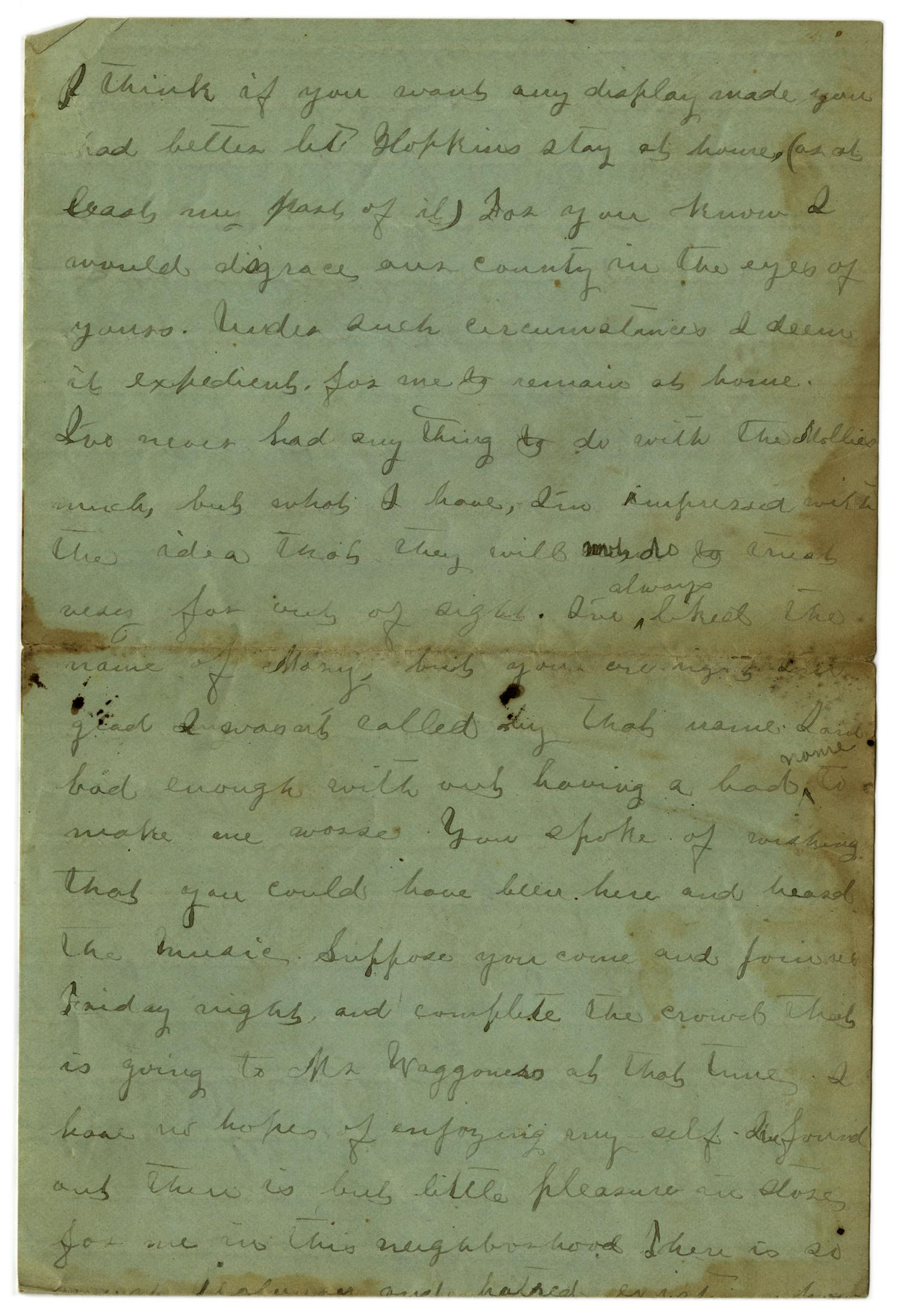 [Letter from Emma Davis to John C. Brewer, June 16, 1879]                                                                                                      [Sequence #]: 3 of 6