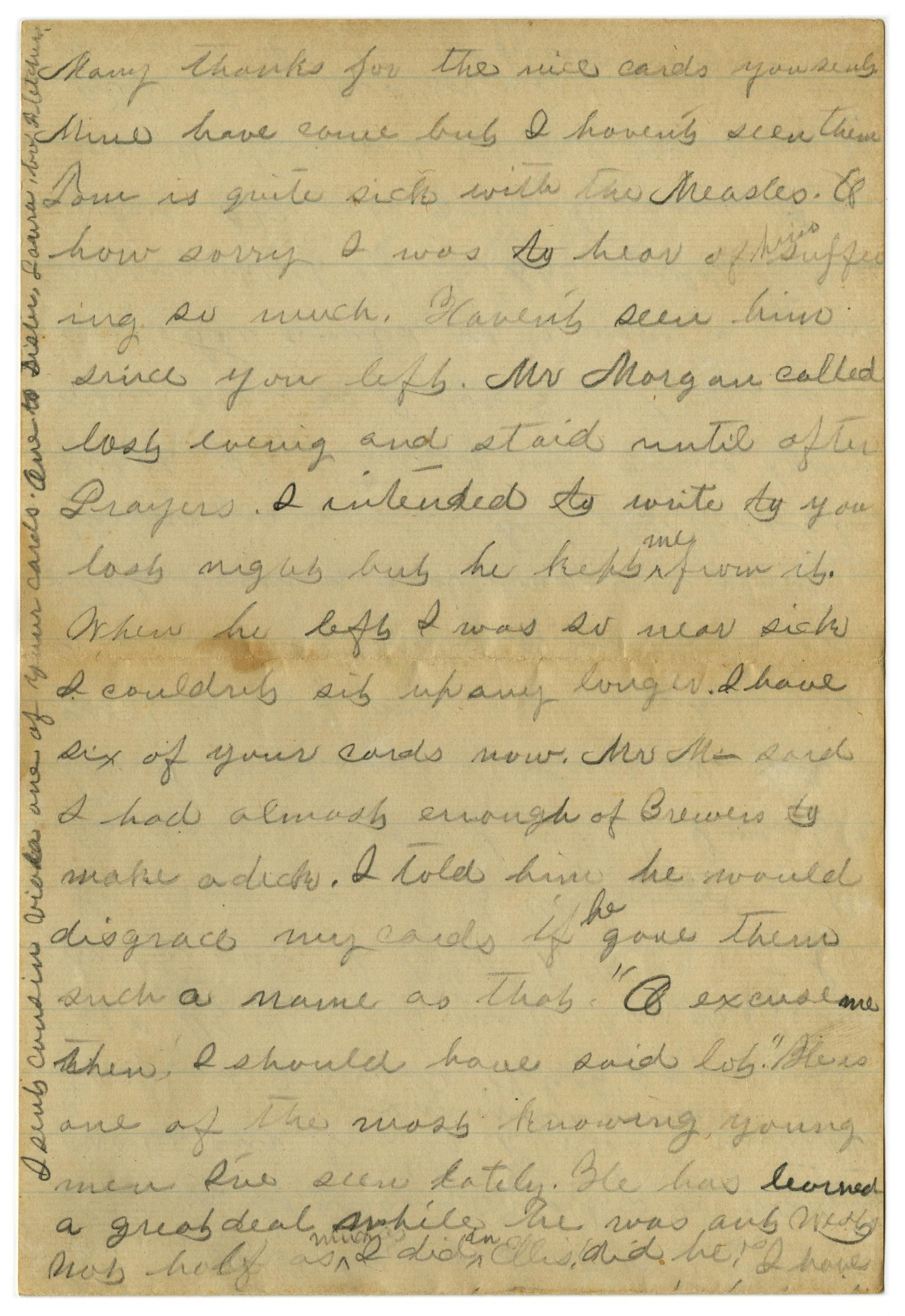 [Letter from Emma Davis to John C. Brewer, September 1, 1879]                                                                                                      [Sequence #]: 3 of 6