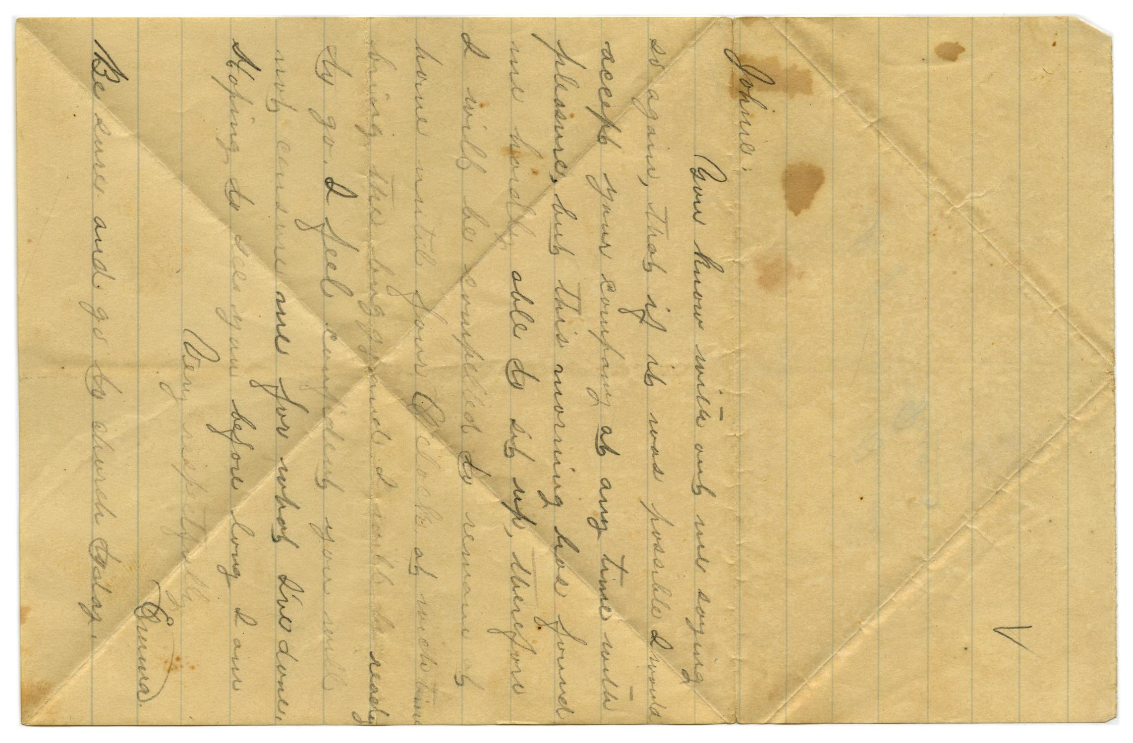 [Letter from Emma Davis to John C. Brewer]                                                                                                      [Sequence #]: 1 of 2