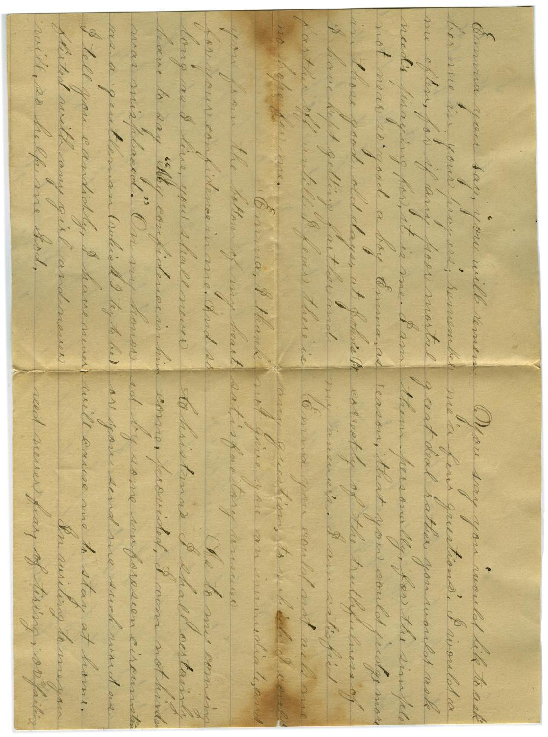 [Letter from John C. Brewer to Emma Davis, August 21, 1878]                                                                                                      [Sequence #]: 2 of 6