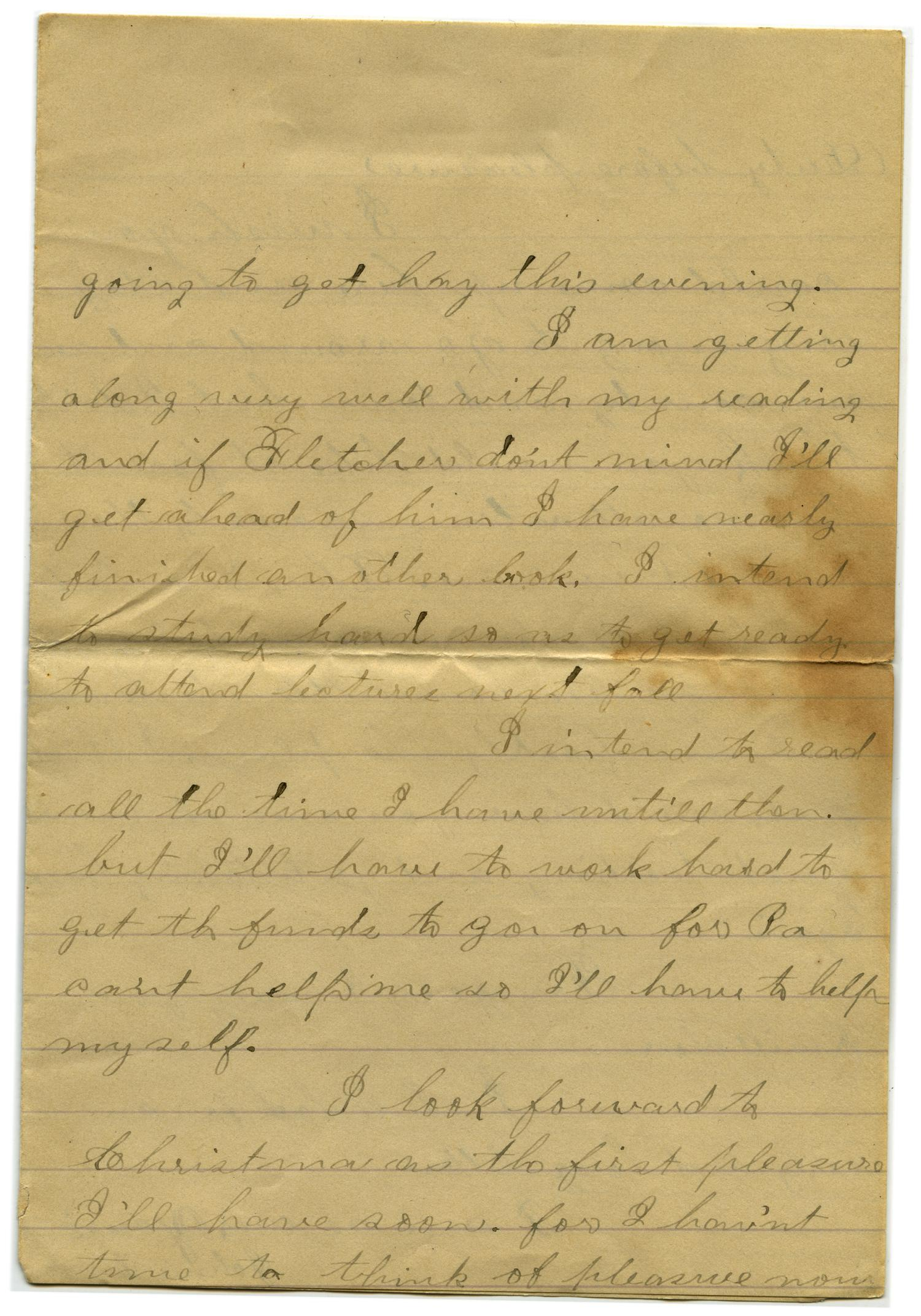 [Letter from John C. Brewer to Emma Davis, August 21, 1878]                                                                                                      [Sequence #]: 4 of 6