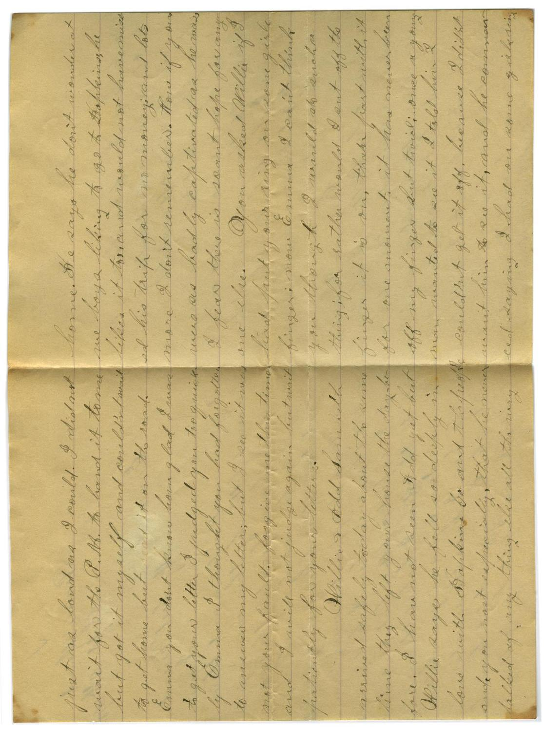 [Letter from John C. Brewer to Emma Davis, September 8, 1878]                                                                                                      [Sequence #]: 2 of 5