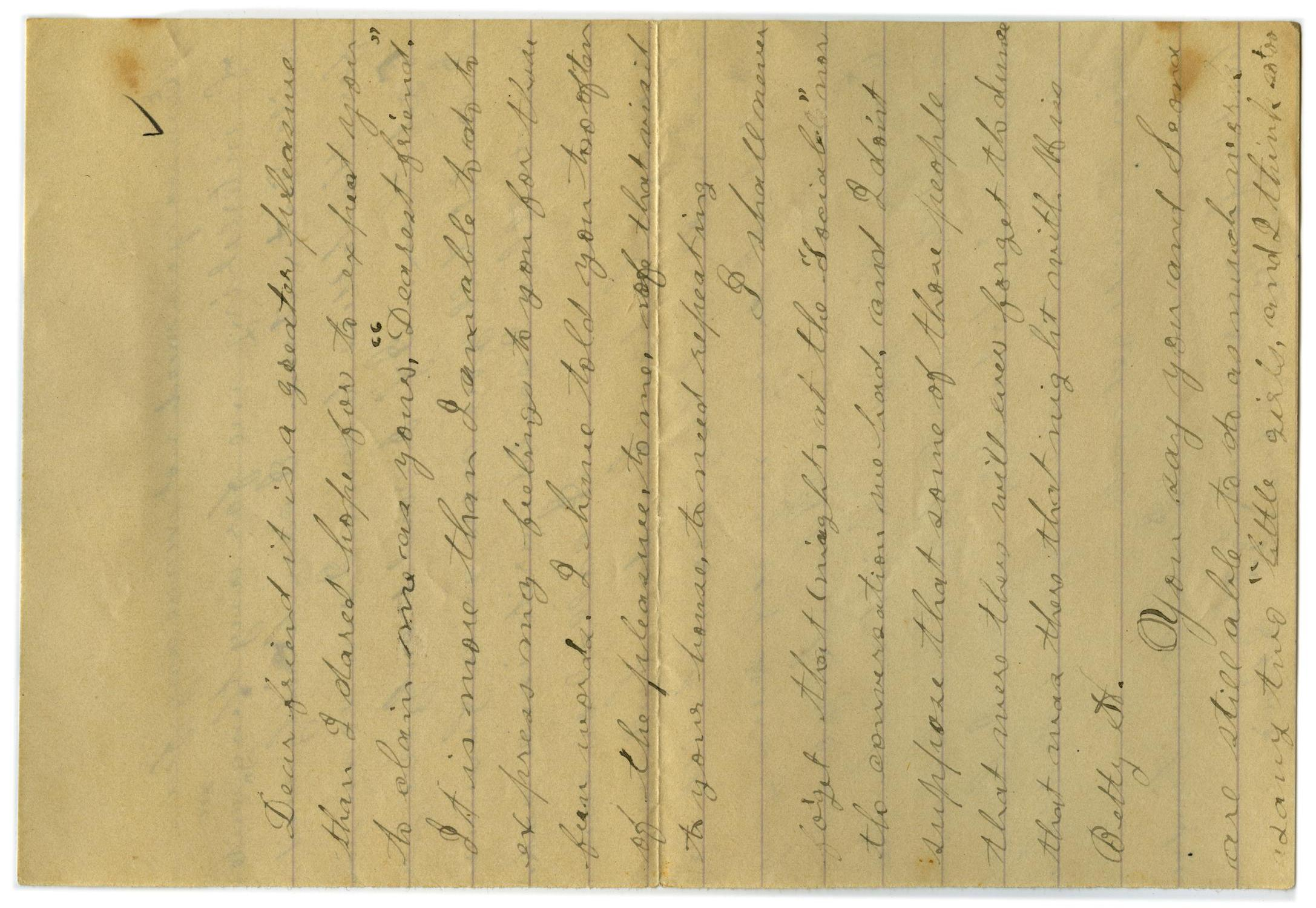 [Letter from John C. Brewer to Emma Davis, September 8, 1878]                                                                                                      [Sequence #]: 4 of 5