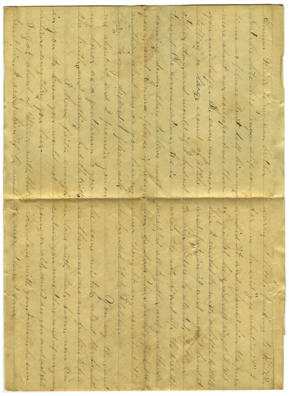 [Letter from John C. Brewer to Emma Davis, September 20, 1878]                                                                                                      [Sequence #]: 2 of 5