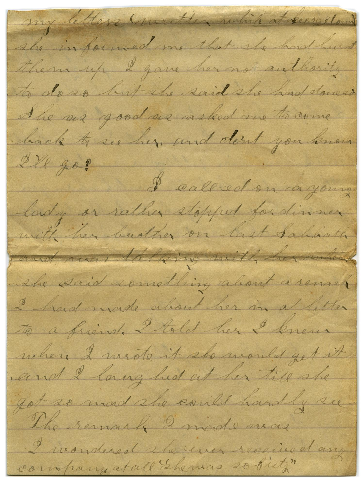[Letter from John C. Brewer to Emma Davis, September 20, 1878]                                                                                                      [Sequence #]: 4 of 5