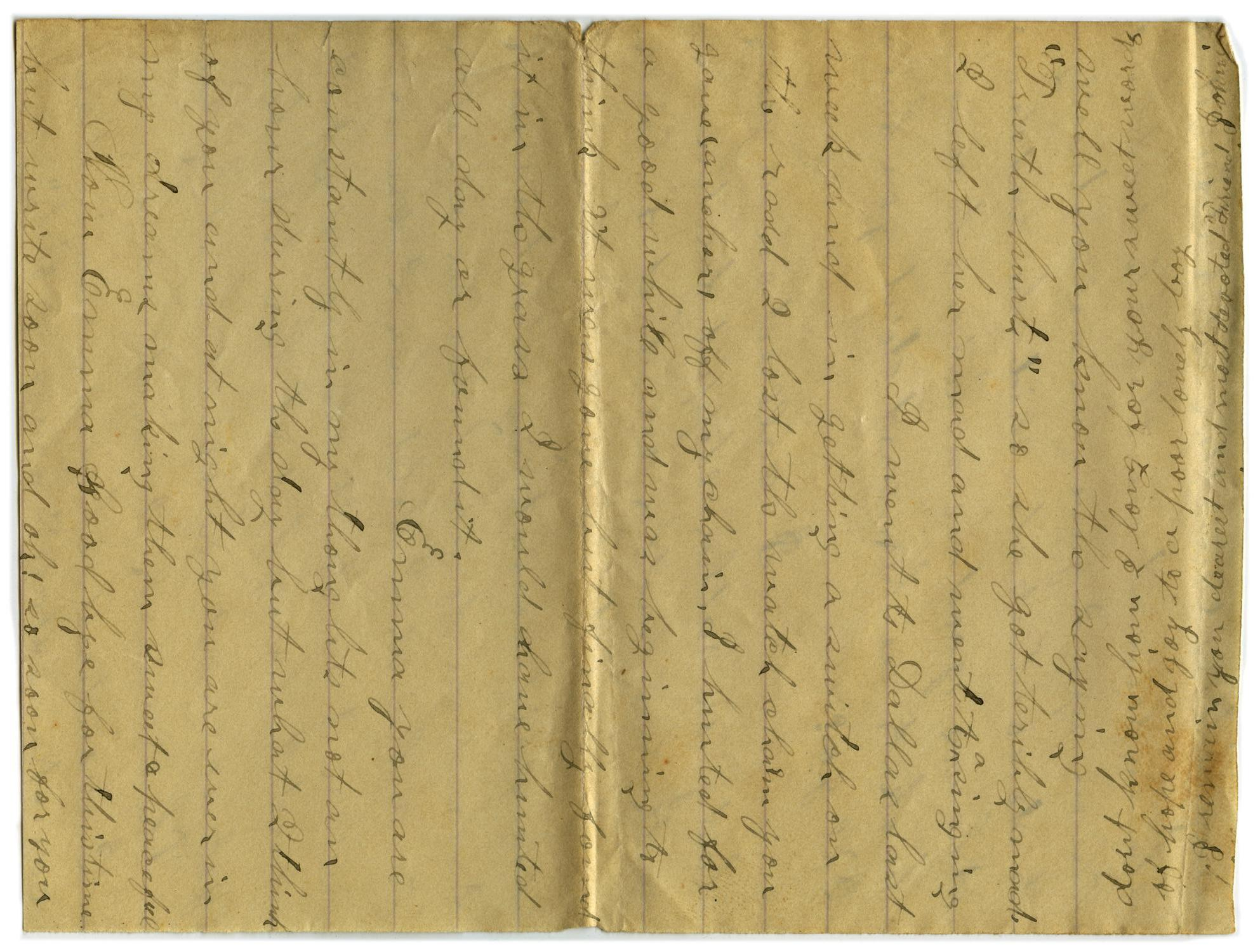 [Letter from John C. Brewer to Emma Davis, September 20, 1878]                                                                                                      [Sequence #]: 5 of 5