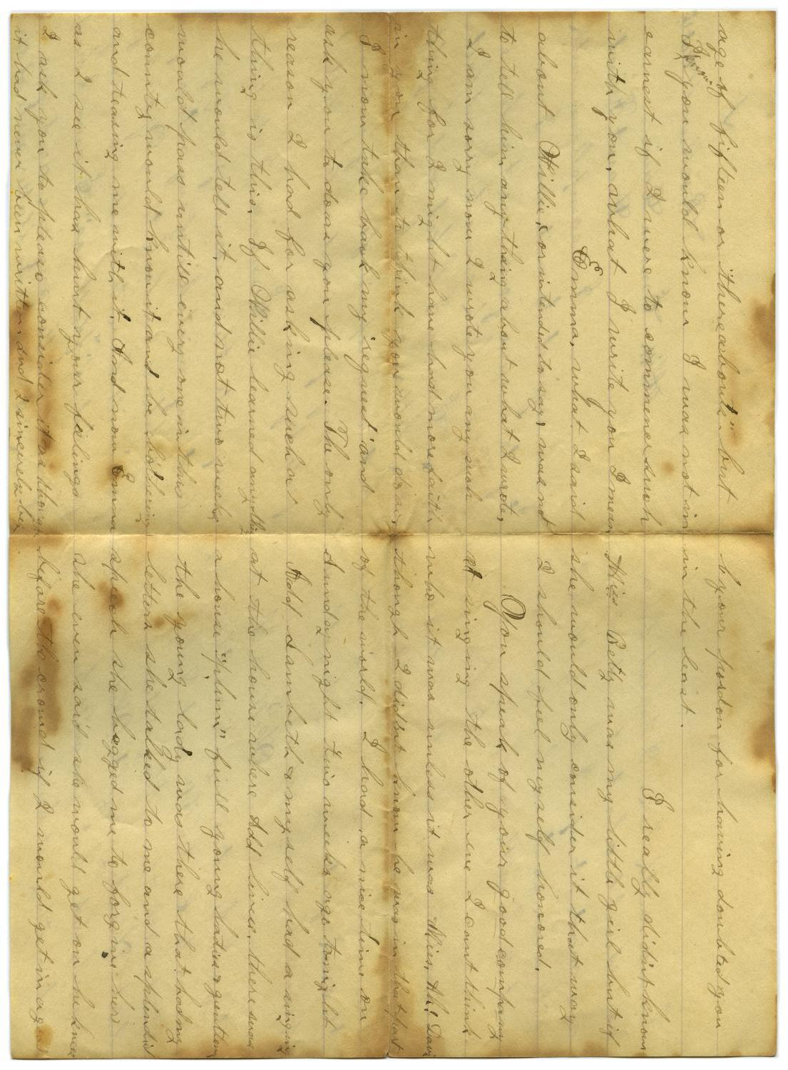 [Letter from John C. Brewer to Emma Davis, October 15, 1878]                                                                                                      [Sequence #]: 2 of 6