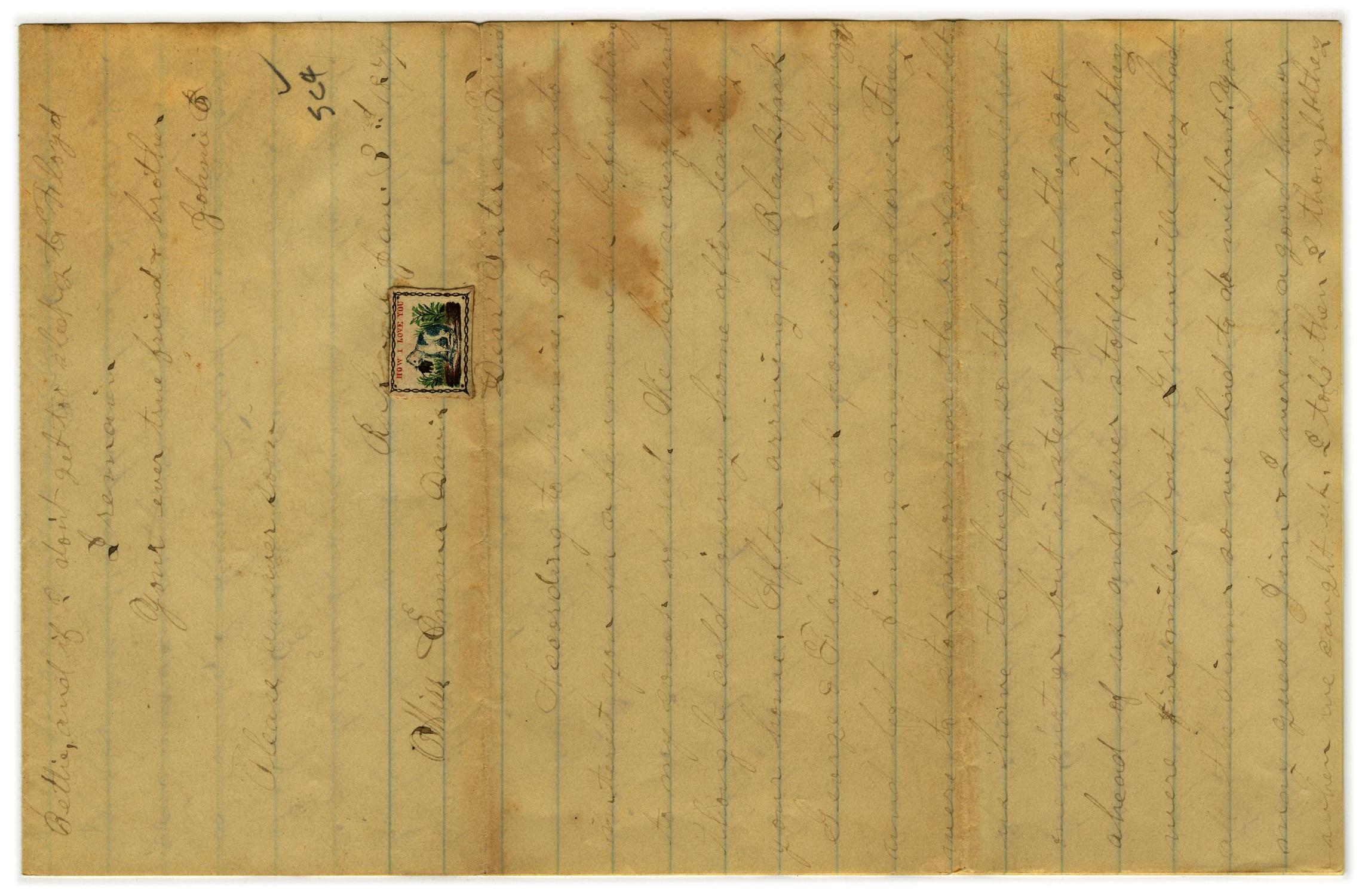 [Letter from John C. Brewer to Emma Davis, January 3, 1879]                                                                                                      [Sequence #]: 1 of 3