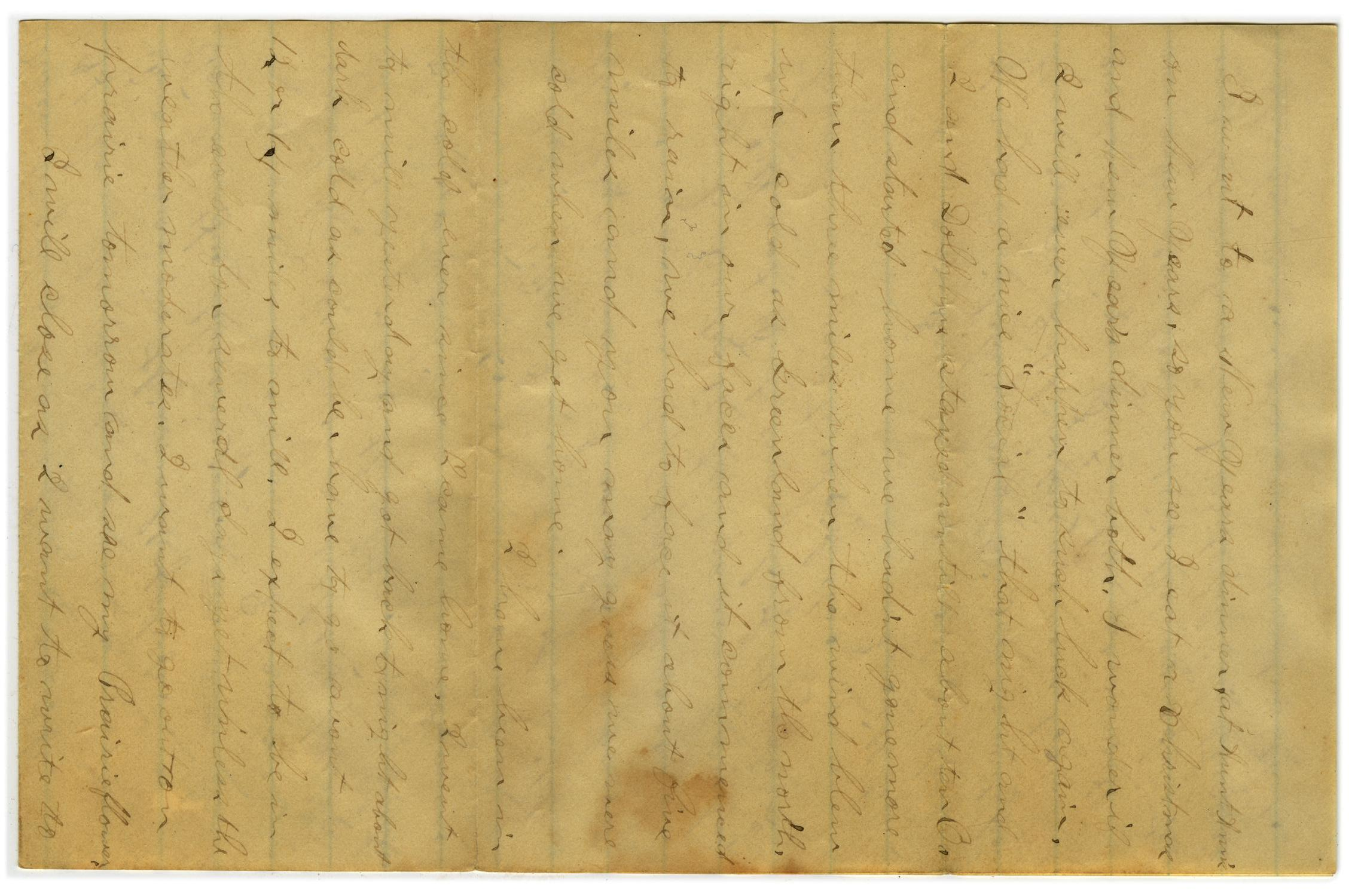 [Letter from John C. Brewer to Emma Davis, January 3, 1879]                                                                                                      [Sequence #]: 3 of 3